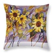 Sunflower Stems Throw Pillow