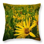 Sunflower Storm Throw Pillow