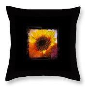 Sunflower Sunset - Art Nouveau  Throw Pillow