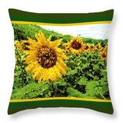 Sunflower Tapestry Throw Pillow