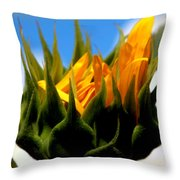 Sunflower Teardrop Throw Pillow
