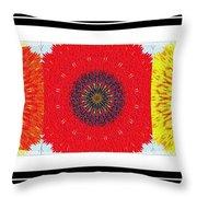Sunflower Trio - Triptych - Flowers Throw Pillow