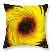 Sunflower Twirl Throw Pillow