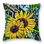 Sunflower Under The Gables Too Throw Pillow