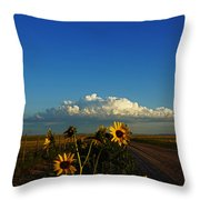 Sunflower Views Throw Pillow