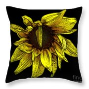 Sunflower With Contours Effect Throw Pillow
