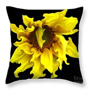Sunflower With Curlicues Effect Throw Pillow