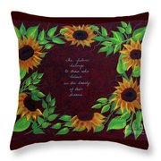 Sunflowers And Dreams Throw Pillow