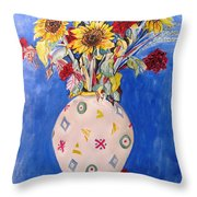 Sunflowers At Home Throw Pillow