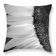 Sunflowers Beauty Black And White Throw Pillow