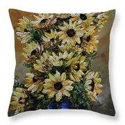 Sunflowers Fantasy Throw Pillow