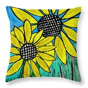 Sunflowers For Fun Throw Pillow