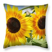 Sunflowers In Full Bloom Throw Pillow