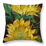 Sunflowers Throw Pillow by Michael Creese
