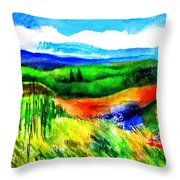 Sunflowers Near Greve Throw Pillow