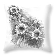 Sunflowers Throw Pillow by Sarah Parks