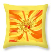 Sunglow Fractal Throw Pillow