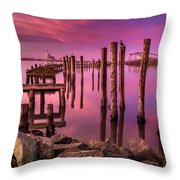 Sunk In Twilight Throw Pillow
