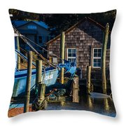 Shem Creek Life Throw Pillow