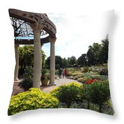 Sunken Garden Ironworks 2 Throw Pillow