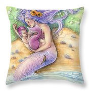 Sunkissed - Pink Throw Pillow