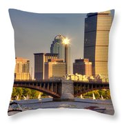 Sunkissed Prudential - Boston Throw Pillow by Joann Vitali