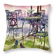 Sunkissed Shadows Throw Pillow