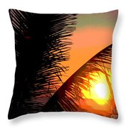 Sunlight - Ile De La Reunion - Reunion Island Throw Pillow by Francoise Leandre