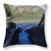 Sunlight On Lake Jenny Throw Pillow