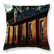 Sunlight On Old Brick Building - Ellensburg - Washington Throw Pillow