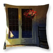 Sunlight On Scarlet - New England Autumn Throw Pillow