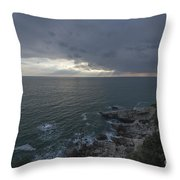 Sunlight Over The Sea Throw Pillow