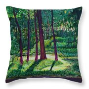 Sunlight Peeping Through. Throw Pillow
