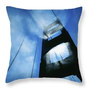 Sunlight Shining Through Golden Gate Throw Pillow