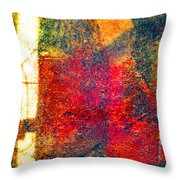 Sunlight Sliver On Abstract Throw Pillow
