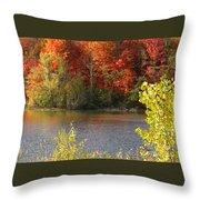 Sunlit Autumn Throw Pillow