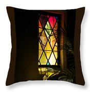 Sunlit Chapel Throw Pillow