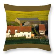 Sunlit Farm Throw Pillow