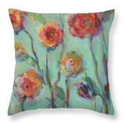 Sunlit Garden Throw Pillow