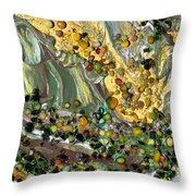 Sunlit Marsh Throw Pillow
