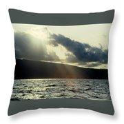 Sunlit Rays Before Sunset Throw Pillow