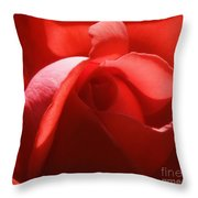 Sunlit Red Throw Pillow