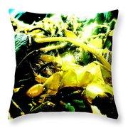 Sunlit Seaweed Throw Pillow