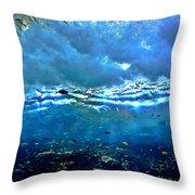 Sunlit Wave Throw Pillow