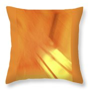 Sunny Abstract Digital Art Throw Pillow