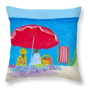 Sunny Afternoon At The Beach Throw Pillow