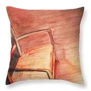 Sunny And Chair Throw Pillow