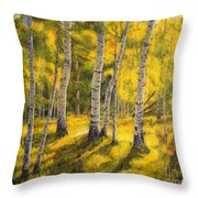 Sunny Birch Throw Pillow