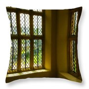 Sunny Corner At Montacute House  Throw Pillow