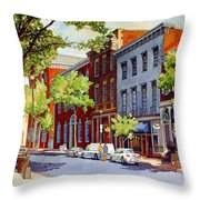 Sunny Day Cafe Throw Pillow